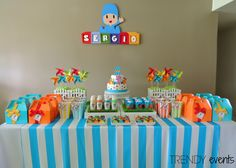 Pocoyo Party Ideas by Trendy Events www.facebook.com/trendyeventspr