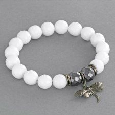 White jade with dragonfly.