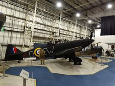 The restored Boulton Paul Defiant at the RAF Museum Hendon Air Force Aircraft, Ww2 Aircraft, Military Helicopter, Military Aircraft, Aviation World, Aircraft Pictures, Photo On Wood, Royal Air Force, Mk1