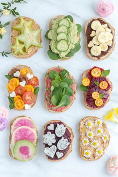 Let's toast to the fact that spring is right around the corner! We are sharing nine pretty spring toasts for you to try!