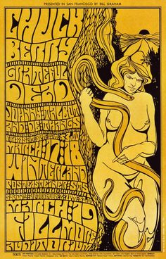 Concerts at the Fillmore Auditorium and at the Winterland (Chuck Berry; Grateful Dead; Johnny Talbot and the Thangs)