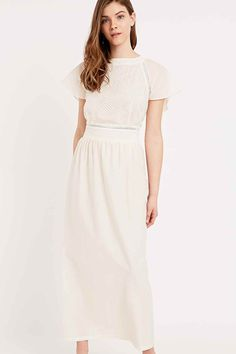 Sessun Delfina Backless Embroidered Dress in Cream