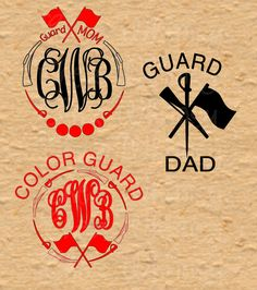 ee0eb411 Color guard Monogram, Color Guard SVG, Guard SVG, Guard Dad, Guard Mom