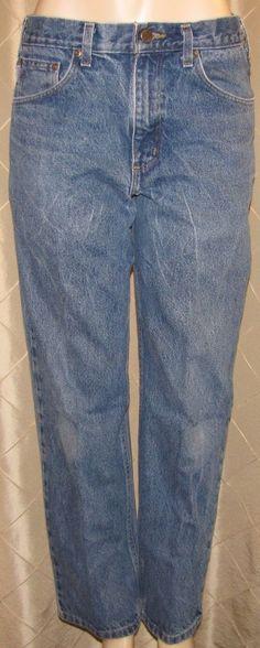 MEN'S CARHARTT B 160 DST BLUE JEANS 32 X 29 RELAXED FIT  100% COTTON  #Carhartt #Relaxed