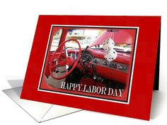 Labor Day-Vintage Auto and Dice Card.  recently purchased by a customer in Wyoming, Thank You!