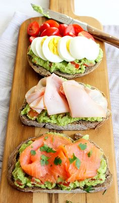 3 x sandwich met avocado zalm ham ei silvie s kitchen damn good peanut butter banana cake gluten free grain free Healthy Meal Prep, Healthy Breakfast Recipes, Healthy Snacks, Healthy Eating, Healthy Recipes, Avocado Recipes, Smoked Salmon Recipes, Eating Clean, Breakfast Ideas