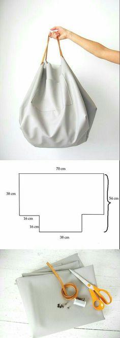 Partilhamos aqui duas sugestões de carteiras grandes.          Boas Costuras!   Fonte: Pinterest
