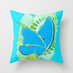 Butterfly 06 Throw Pillow cover  by Ramon Martinez Jr - $20.00