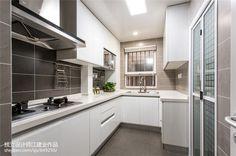 混搭现代厨房吊顶装修设计
