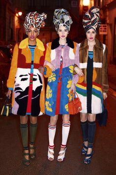 Harpers Bazaar's UK March 2014 Models: Rosie Huntington-Whiteley, Naomi Campbell and Karolina Kurkova Photography: Karl Lagerfeld Styling: Carine Roitfeld Arte Fashion, Moda Fashion, Fashion Shoot, Editorial Fashion, Ideias Fashion, Fashion Trends, Pop Art Fashion, Crazy Fashion, Fashion Fashion