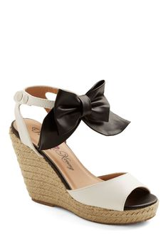 Va Va Vogue Wedge. Go for daytime glam by flaunting these feminine espadrille wedges at your afternoon picnic!  #modcloth
