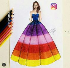 Likes, 16 Comments – Gallery of Fashion Designs (Karen Weiss. Dress Design Drawing, Dress Design Sketches, Fashion Design Sketchbook, Dress Drawing, Fashion Design Drawings, Wedding Dress Sketches, Fashion Drawing Dresses, Fashion Illustration Dresses, Fashion Model Sketch