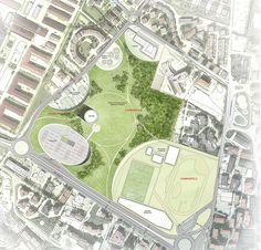 Parque urbano Piazza d'Armi. L'Aquila