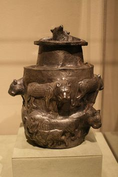 Box and lid Silver . Central Asia (Bactria-Margiana) late 3rd early 2nd millennium BC