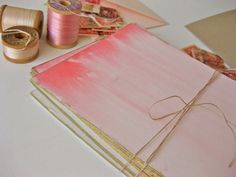 handpainted ombre cards. http://www.designsponge.com/2012/02/diy-project-hand-painted-valentines.html