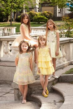 Quis Quis spring summer 2016 elegant pastel shades for an afternoon in Milan Cute Little Girl Dresses, Beautiful Little Girls, Cute Little Girls, Nice Dresses, Flower Girl Dresses, Flower Girls, Kids Fashion Blog, Tween Fashion, Little Girl Fashion