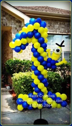 Minion Balloon Yard Number 1  #iamconwin #yardnumber #qualatex