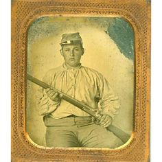 A TEENAGER OFF TO WAR FOR THE CONFEDERACY, 1/6th plate ambrotype in a full…