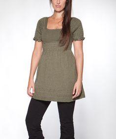 Look at this #zulilyfind! Green Linda Wool-Blend Tunic by Piedra y Agua #zulilyfinds