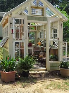 Planning on creating a greenhouse like this. Just need more windows!!!