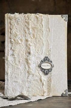 Decorated wedding book by Ewa, featuring the A Day in May collection
