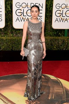 2016 Golden Globes Red Carpet Arrivals Jane Wu, Golden Globe Awards