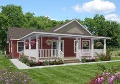 Modular Home Floor Plan Sq. Ranch Home Floor Plans, Mobile Home Floor Plans, House Floor Plans, Small Modular Homes, Small Cottage Plans, Mobile Home Exteriors, Simple Floor Plans, Modular Home Floor Plans, Backyard Cottage