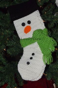 Christmas Stocking, Crochet Stocking, Christmas Decor, family Christmas Stocking, Handmade Christmas Stocking