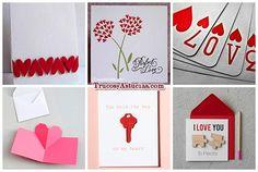 ideas de tarjetas de amor para el día de san valentín hechas con manualidades