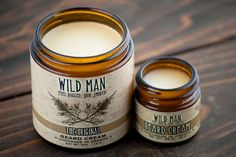 Wild Man Beard Cream - Beard Balm / Mens Beard Grooming / For Him The Original - 113g // 4oz Feel Rugged, Look Smooth  - - - - - - - - - - - - - - - - - - - - - - - - - - - - - - - - - - - - - - - - - - - - - - - - - - - - - - - - - - -  OUR FORMULA  Wild Man Beard Cream is a deep-conditioning beard balm ideal for moisturizing and softening the driest, scratchiest beards. Our long lasting formula of Organic Coconut Oil and Pacific Northwest Beeswax allows light styling, leaving your beard…