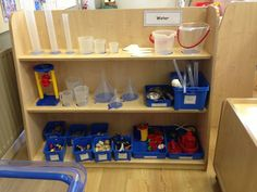 Water area at Early Excellence- can see all supplies, space for things to dry Classroom Layout, Classroom Organisation, Outdoor Classroom, Classroom Setting, Classroom Design, Preschool Classroom, Kindergarten, Classroom Ideas, Organization