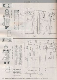 Tremendous Sewing Make Your Own Clothes Ideas. Prodigious Sewing Make Your Own Clothes Ideas. Japanese Sewing Patterns, Sewing Patterns Free, Clothing Patterns, Dress Patterns, Sewing Shirts, Sewing Clothes, Sewing Hacks, Sewing Crafts, Shirts & Tops