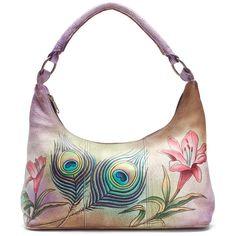 Anuschka Women's Medium Hobo Handbags, Wallets & Cases (290 CAD) found on Polyvore