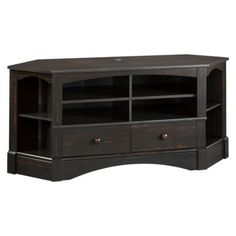 Harbor View Corner Entertainment Credenza - Antiqued Paint