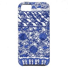Blue and White Chinese Porcelain Cell Case