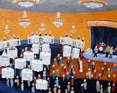 Live Event Painting | Color Me Nola  | Kristy Oustalet | Weddings | New Orleans | Baton Rouge | Blue Room