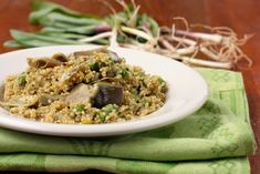 Quinoa Pilaf with Ramps, Artichokes, and Peas [Vegan]   One Green Planet