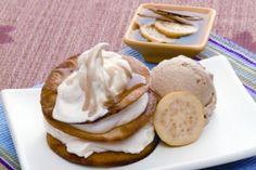 Buñuelos cremosos con helado de vainilla, ¡deliciosos!   Informe21.com #Food #Comida #Receta