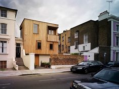 Type: Residential House Client: Private Client Location: Greenwood Road, Hackney, London Scope: Lead Architectural Design Services & Contract Administration Area: Status: Complete This new house for a carpenter and a folk music critic sits . Glasgow City, Residential Architecture, London Architecture, Kensington And Chelsea, Best Architects, Timber Cladding, Brighton And Hove, House Extensions, Architect Design