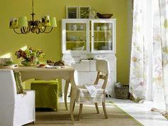 Verde que te quiero verde (comedor 2) http://patriciaalberca.blogspot.com.es/