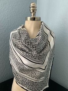 Square Cotton Scarf with Silver Thread Small Size Hip Scarf Bandana