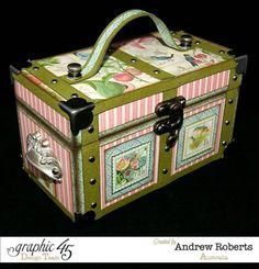 Lovely Botanical Tea Mini altered trunk by Andrew #graphic45