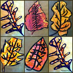 PAINTED PAPER: Fall Leaves at Lake George