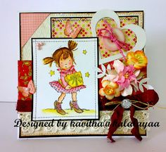 My latest card using new lili of the valley stamp