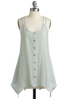 I'll bet I can upcycle an old button-up like this. Or $37.99 at Modcloth.
