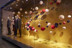 Marks & Spencer Wool Week by Barthelmess Gmbh, UK Store Displays, Retail Design, Wool Yarn, Visual Merchandising, Villa, Window, Fabric, The Originals, Stained Glass Windows