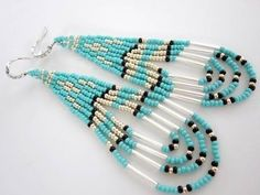 Native American Southwestern Style Beaded Earrings - YouTube