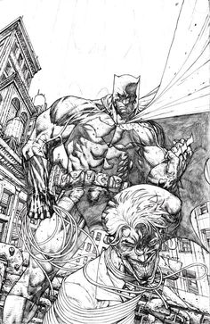 Batman vs The Joker by Stephen Platt