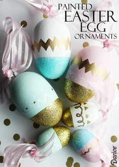 DIY Painted Eggs: Easter Egg Ornaments