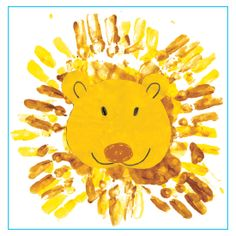 Handprint Lion (from The Mailbox, Arts & Crafts Weekly eNewsletter)